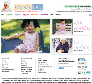 Vitamins Baby Custom eCommerce Design
