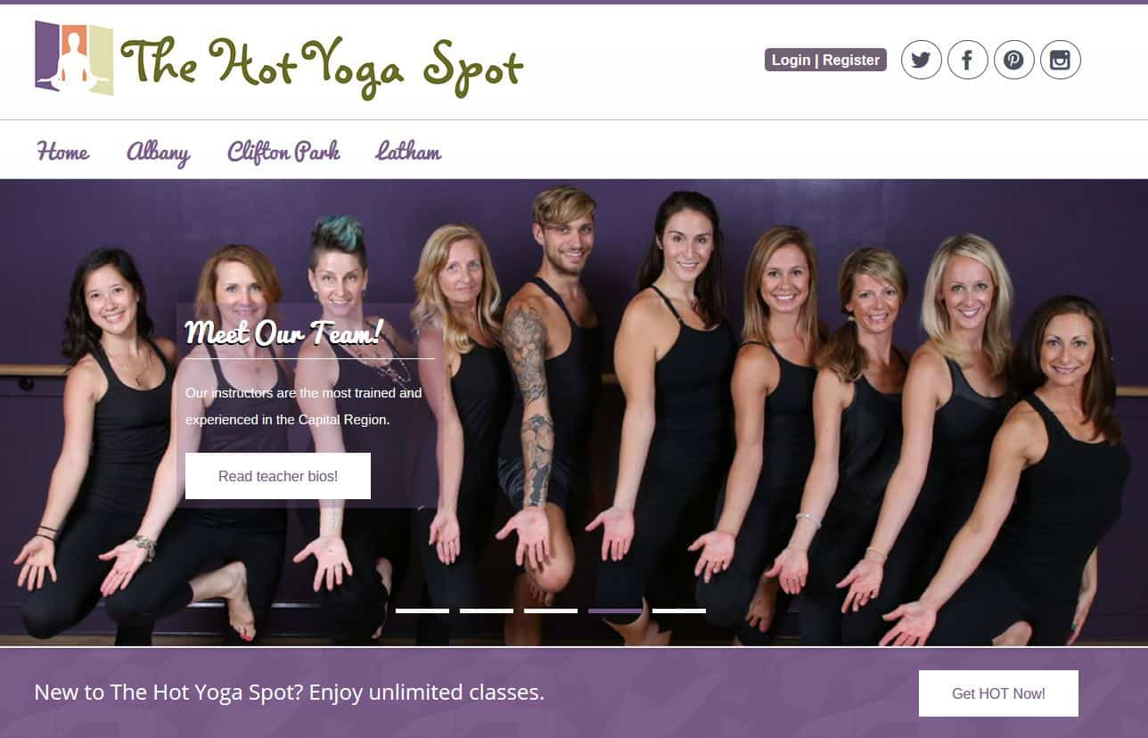New WordPress Design Project – The Hot Yoga Spot