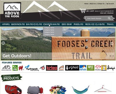 Custom eCommerce Design Project - Above The Ridge