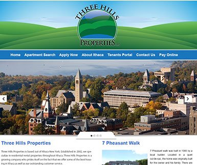 Custom WordPress Design - 3 Hills Properties