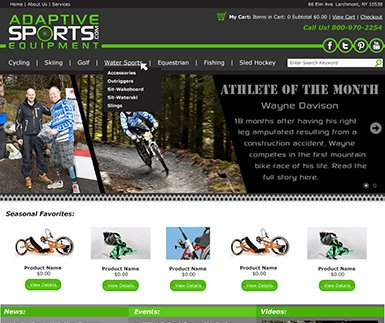 Custom eCommerce Design - Adaptive Sports Equipment