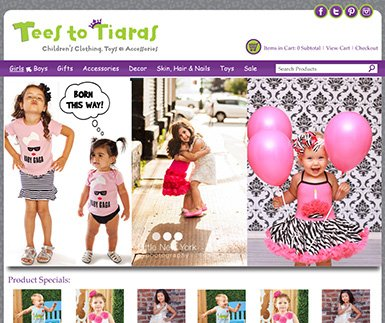 Custom eCommerce Design - Tees to Tiaras
