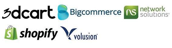 eCommerce Platforms we support