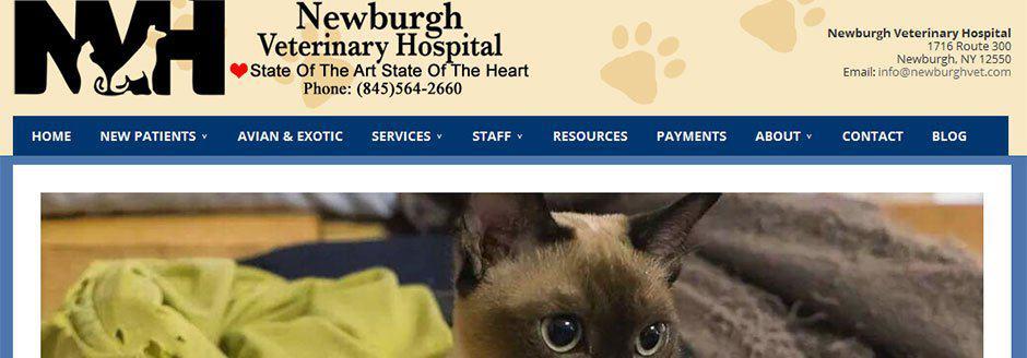 New WordPress Design Project – Newburgh Veterinary Hospital