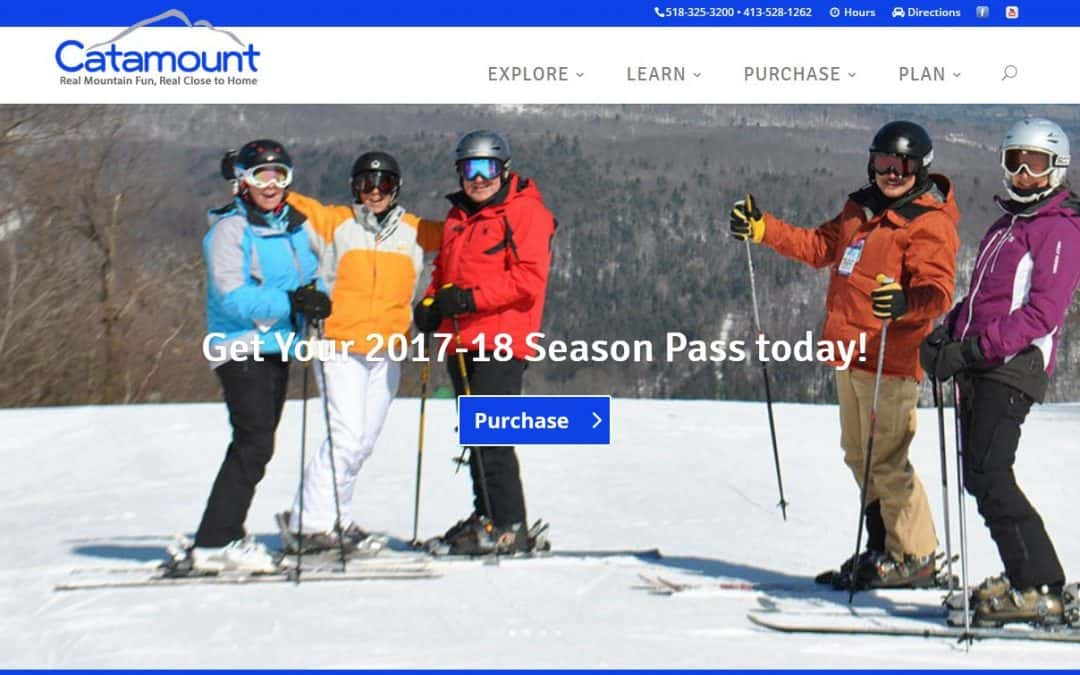 WordPress Design – Catamount Ski