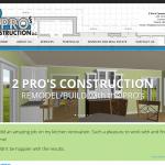 Custom Wordpress Design - 2 Pro's Construction
