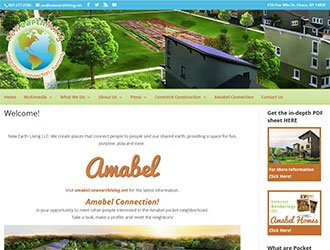Our Latest Ithaca client – New Earth Living!
