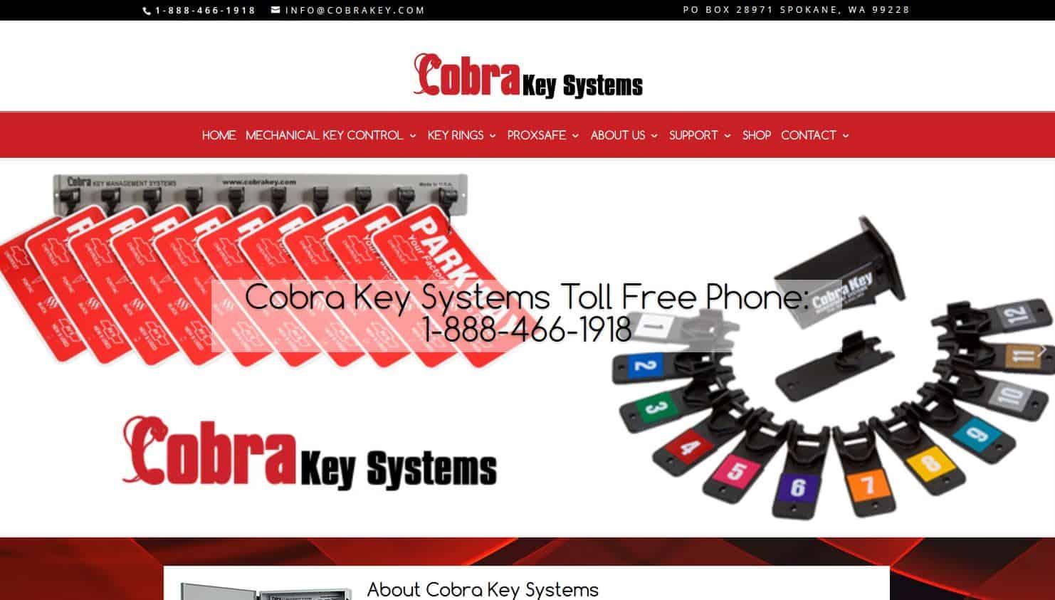 WordPress redesign project – Cobra Key Systems