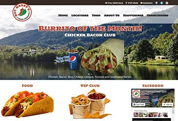 WordPress Design Project – Hot Harry's Burritos